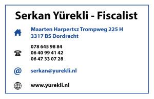 Visitekaartje Yurekli Achterkant
